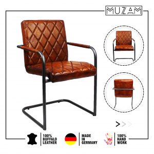 Rocking leather chair